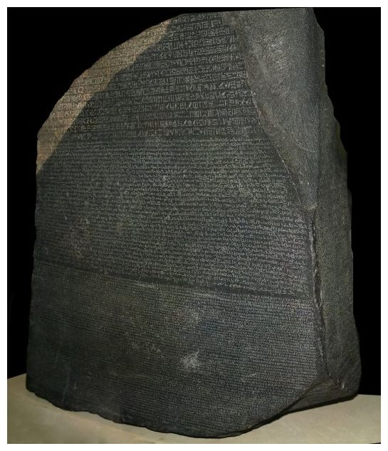 The Rosetta Stone - prize exhibit of the British Museum...and extended scientific metaphor.