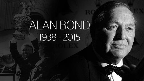 The late Alan Bond - tarnished Australian treasure, visionary entrepeneur, criminal fraudster par excellence. We may not see his like again in this more worldly age. And if you do, check your wallet...and possibly count your teeth.